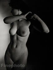 1950's Vintage Print MID CENTURY FEMALE NUDE Photo Engraving Art By ZOLTAN GLASS