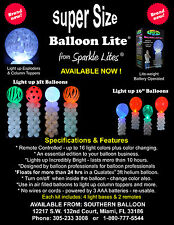 SUPER SIZE LED BALLOON LIGHTS / PACK OF 4