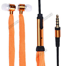3.5mm Shoelace Original Stereo Handfree Headphone Earphone Headsets With Mic New