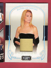 KATHIE LEE GIFFORD WORN RELIC SWATCH MATERIAL CARD 2008 CELEBRITY CUTS #23/100