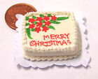 1:12 Scale Oblong Christmas Cake Dolls Miniature House Food Accessory SC12n