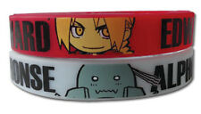 **License** Fullmetal Alchemist SD Edward & Al PVC Wristband Set of Two #54239