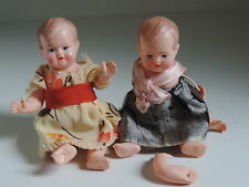Schildkröt Puppe, Babypuppe, Bebi,9 1/2 ,Zelluloid,20er Jahre, 2 Stück