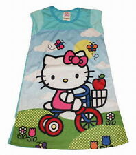 ROBE CHEMISE DE NUIT HELLO KITTY SUR SON TRICYCLE 5-6 ans BY SANRIO **RARE**