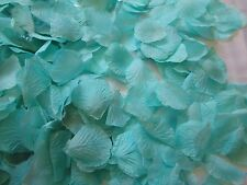 1000 SPA TIFFANY BLUE  ARTIFICIAL  SILK  ROSE PETALS WEDDING