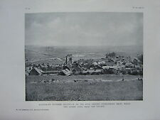 1918 WW1 WWI PRINT ~ AUSTRALIAN PIONEERS DIGGING-IN HIGH ROUD OVERLOOKING BRAY