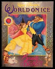 "1992 Disney World On Ice Beauty And The Beast 11"" x 14"" Skating Program NM"