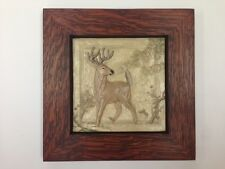 Medicine Bluff White Tail Deer Tile Arts & Crafts Mission Style Oak Park Frame