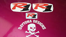 R1 RED & BLACK SET NOSE & CONE SEAT UNIT DECALS STICKERS