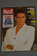 PARIS MATCH N° 2097 STEPHANIE MONACO BETTINA RHEIMS ATTENTAT DC 10 EQUATEUR 1989