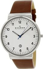 Skagen Men's Ancher SKW6082 Brown Leather Quartz Watch