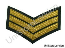 CHEVRON SERGEANT STRIPES GOLD GREEN  150mm 3 Bars WIDE R1387