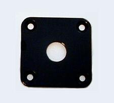 Guitar Parts - JACK PLATE Flat Flush SQUARE - BLACK