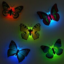 Butterfly LED Night Light Lamp Home Decorative Wall Sticker Nightlight Childrens