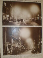 Photo article fluorescent lighting trials Brompton Old Bond Street London 1946