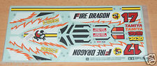 TAMIYA 58403 Fire Dragon (Re-Release), 9495532/19495532 le decalcomanie/GLI ADESIVI, Nuovo con imballo