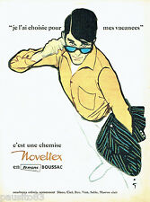 PUBLICITE ADVERTISING 026  1961  Noveltex  chemises homme par René Gruau