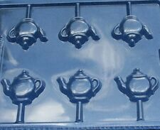 TEAPOT SMALL LOLLIPOP CHOCOLATE CANDY MOLD DRESS UP BIRTHDAY TEA PARTY FAVORS
