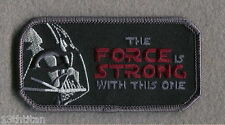 Iron on patch Force  strong with This One Vader Star Wars Morale Tactical Army