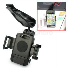Durable Black Sun Visor Car Mount Holder For Apple Samsung HTC Phone PDA GPS New