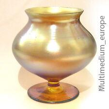 WMF Myra Glas Vase petrolfarben irisierend mit Original Klebe-Etikett am Boden
