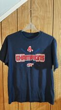 BOSTON RED SOX TEE LARGE BLUE GRAPHIC AMERICAN LEAGUE CHAMPION SHORT SLEEVE 2007