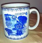 Souvenir GEORGIA MUG Blue & White agiftcorp