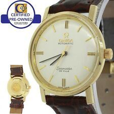 Vintage Omega DeVille Seamaster 14k Solid Yellow Gold 34mm Automatic Watch