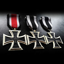 3x German Medals Iron Cross 2nd Class Antique Military Medals Set WW1 WW2 Repro