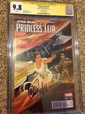 Carrie Fisher Signed 9.8 CGC SS Princess Leia #1 Alex Ross 1:50 Variant Rare