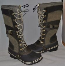 SOREL 'Conquest Carly' Boot Camo Brown Women Boots Size 10