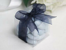 2 x 5cm Bomboniere favor clear plastic PVC box wedding gift idea  many available