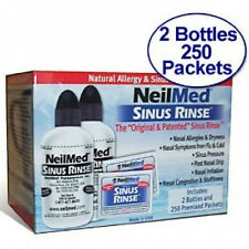 NEILMED Sinus Rinse Kit 2 Bottles 250 Premixed Packets
