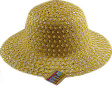 Girls Easter Bonnet Hat - Ideal to decorate For School Parade - Yellow / Silver