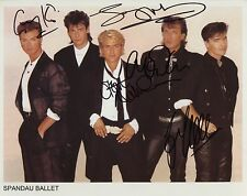 Spandau Ballet Fully Signed Photo Genuine In Person