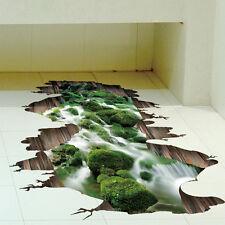 3D Stream Floor Wall Sticker Removable Mural Decal Vinyl Art Living Room Decor T