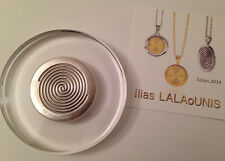 NEW ILIAS LALAOUNIS 2014 COLLECTIBLE PAPERWEIGHT, silver in plexiglass (10cm)