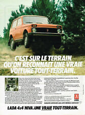 PUBLICITE ADVERTISING 025  1980  LADA  4x4 NIVA  tout terrain