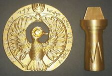 Raiders of the Lost Ark Head Piece to the Staff of Ra Movie Prop incl. Stand