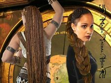 DREADLOCKS Dreads STEAMPUNK Tribal Fusion CHESTNUT DREAD hair FALL Medieval Larp