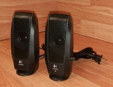 Logitech (S-120) Left & Right Wired Computer Speakers With Volume Control *READ*