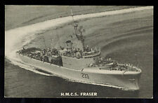 Mint Picture Postcard Canada Navy HMCS Fraser Destroyer at Sea
