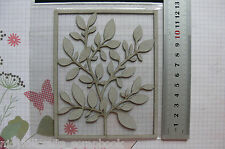 BRANCH of LEAVES 95x120mm - Single DieCut from Chipboard - Frame 128x113mm