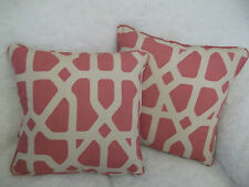 """PORTICO NEW  LINEN/COTTON FABRIC  BY ROMO 1 PAIR OF 18"""" CUSHION COVERS"""