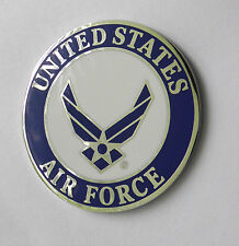 USAF UNITED STATES AIR FORCE WINGS LARGE PIN BADGE 1.5 INCHES