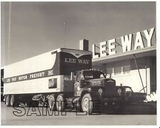 MACK B-61 LEE WAY MOTOR FREIGHT, Oklahoma City w/FRUEHAUF 8x10 B&W Glossy Photo