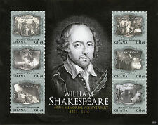 GHANA 2016 Gomma integra, non linguellato William Shakespeare Memorial 400th ANNIV 6v M/S CORIOLANO FRANCOBOLLI