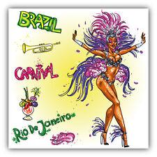 Rio De Janeiro Carnival Brazil Car Bumper Sticker Decal 5'' x 5''