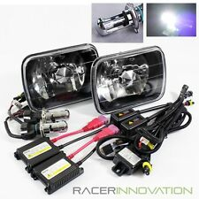 6000K Pure White Bi-Xenon Slim HID/7x6 H6014/H6052/H6054 Black Crystal Headlight