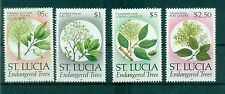 ARBRES - ENDANGERED TREES ST. LUCIA 1990 Common Stamps